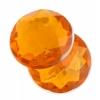 Acrylic 18mm Round Facet Marigold